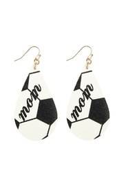 Riah Fashion Soccer Leather Fish-Hook-Earring - Product Mini Image