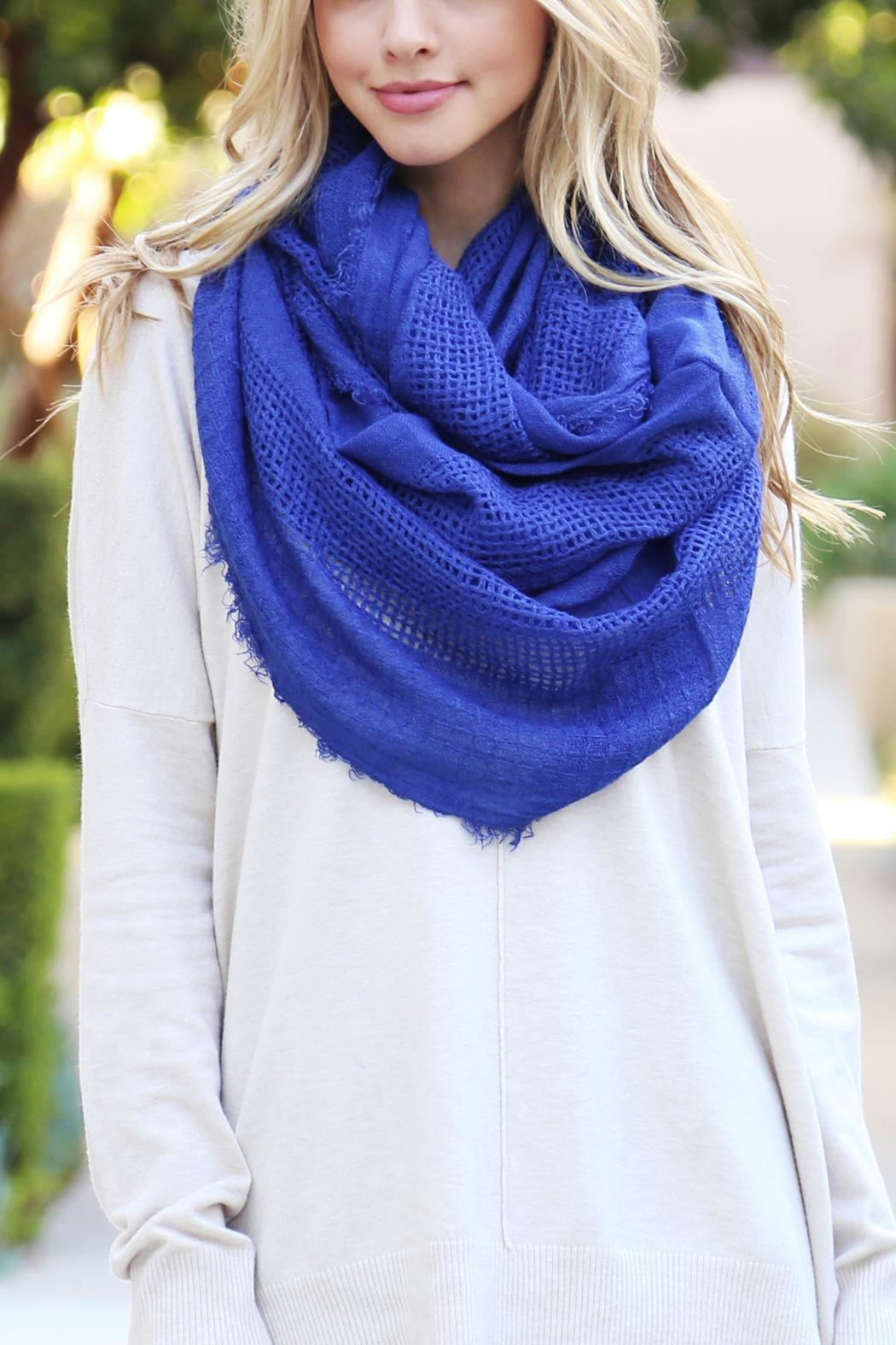 Riah Fashion Soft Infinity Scarf - Front Full Image