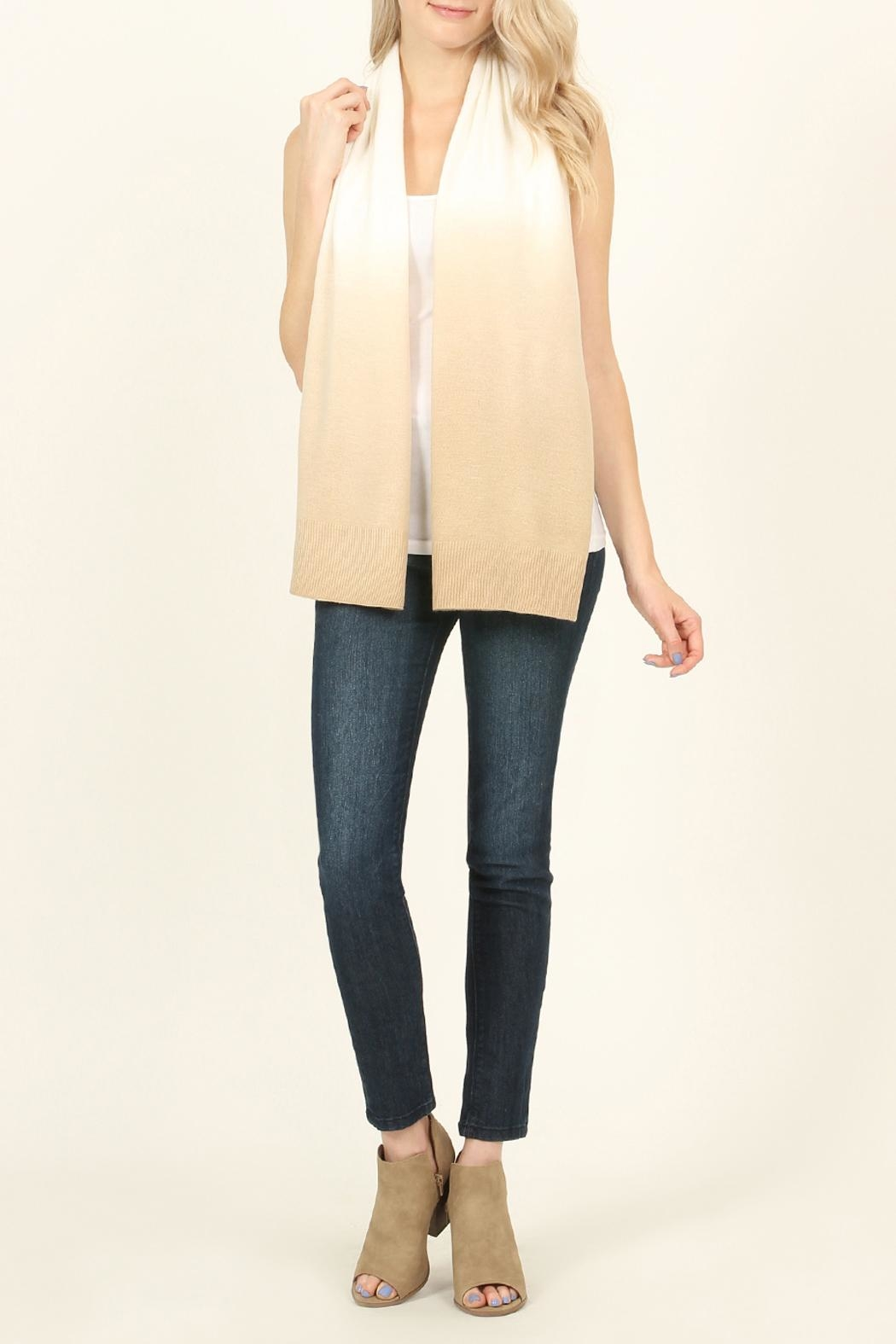 Riah Fashion Soft Ombré Button Cardigan - Back Cropped Image