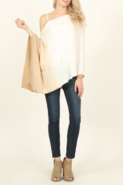 Riah Fashion Soft Ombré Button Cardigan - Front full body