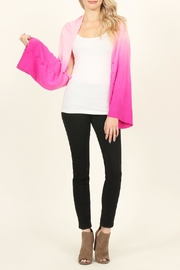Riah Fashion Soft Ombré Button Cardigan - Side cropped