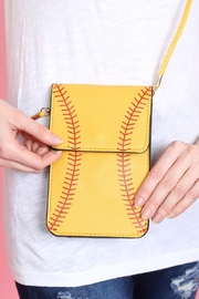 Riah Fashion Softball Cellphone Crossbody With Clear Window Pouch - Product Mini Image