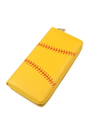 Riah Fashion Softball Zipper Wallet - Product Mini Image