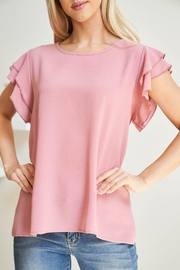 Riah Fashion Solid-Ruffle-Blouse - Side cropped