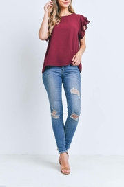 Riah Fashion Solid-Ruffle-Blouse - Front cropped