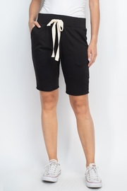 Riah Fashion Solid-Self-Tie-Short- With-Side-Pockets - Product Mini Image