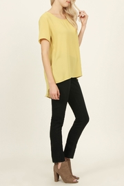 Riah Fashion Solid Surplice Back-Blouse - Other
