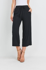 Riah Fashion Solid-Wide-Leg-Self-Tie-Pants-With-Side-Pockets - Product Mini Image