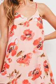 Riah Fashion Spaghetti-Straps-Floral-Print-Dress-With-Inside-Lining - Other
