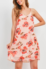 Riah Fashion Spaghetti-Straps-Floral-Print-Dress-With-Inside-Lining - Back cropped