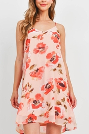 Riah Fashion Spaghetti-Straps-Floral-Print-Dress-With-Inside-Lining - Product Mini Image