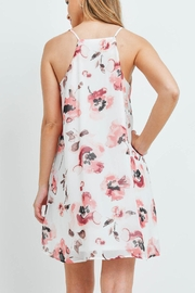 Riah Fashion Spaghetti-Straps-Floral-Print-Dress-With-Inside-Lining - Front full body