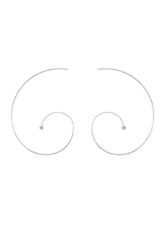 Shoptiques Product: Spiral Brass Earrings