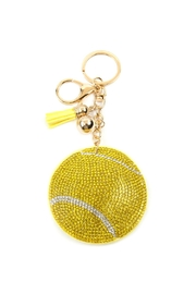 Riah Fashion Sports Tennis Ball Keychain - Product Mini Image