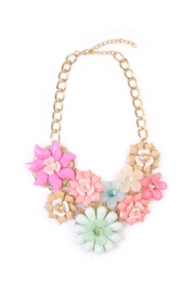 Riah Fashion Springtime Multicolor Necklace - Product Mini Image