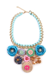 Riah Fashion Springtime Statement Necklace - Product Mini Image