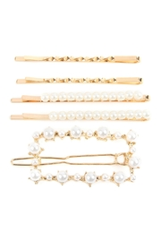 Riah Fashion Square Pearl-Hair-Clip-Set - Front cropped