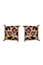 Riah Fashion Square Shape Cushion Earrings - Product Mini Image