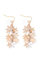 Riah Fashion Star-Cluster-Link-Chain-Drop-Earrings - Product Mini Image