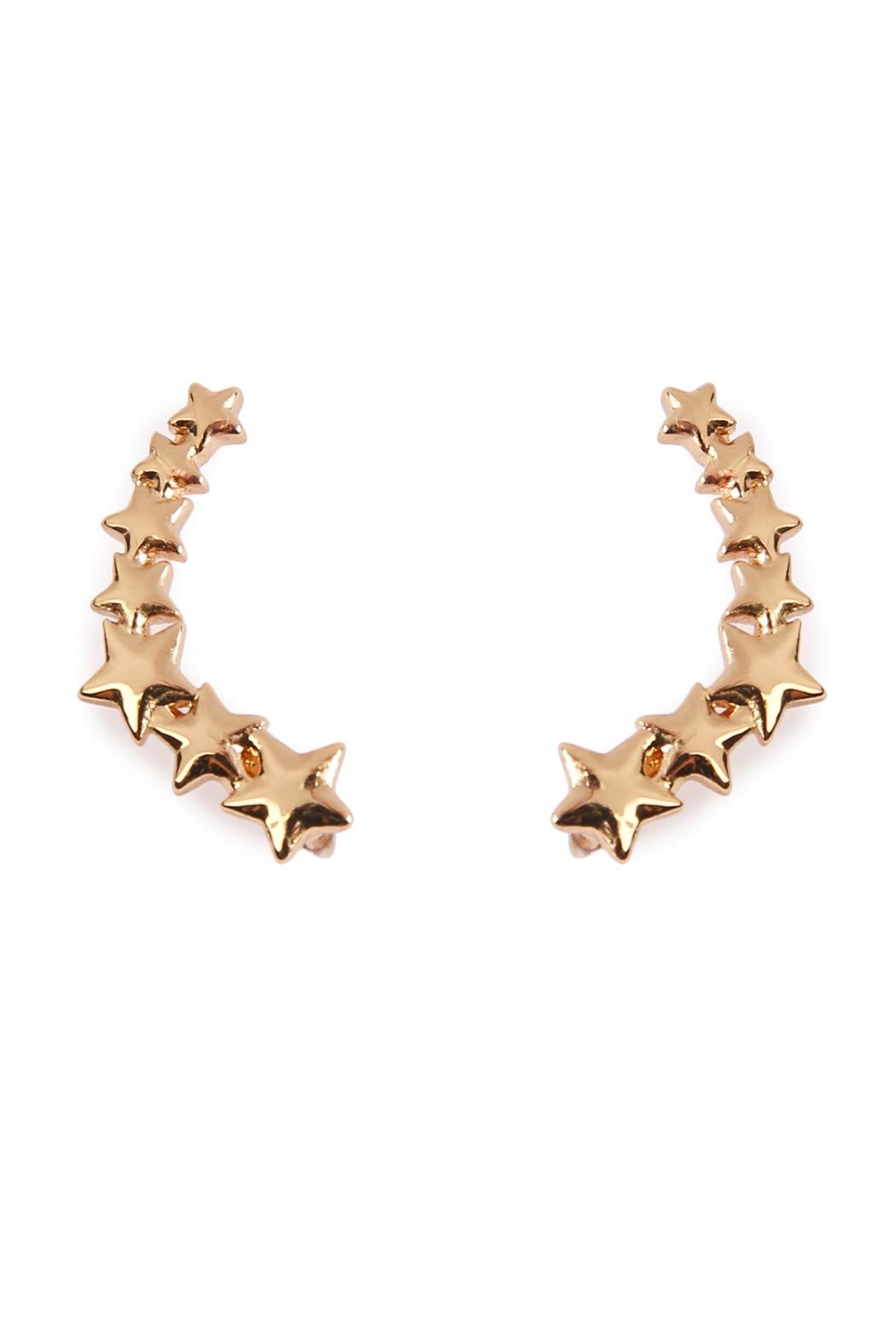 Riah Fashion Star Crawler Earrings - Main Image