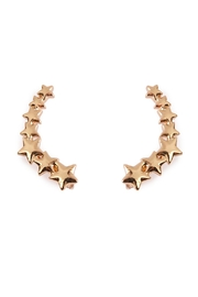 Riah Fashion Star Crawler Earrings - Front cropped