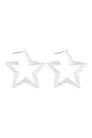 Riah Fashion Star-Edged-Post-Earrings - Front cropped
