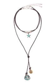 Riah Fashion Star-Fish Choker Necklace - Product Mini Image