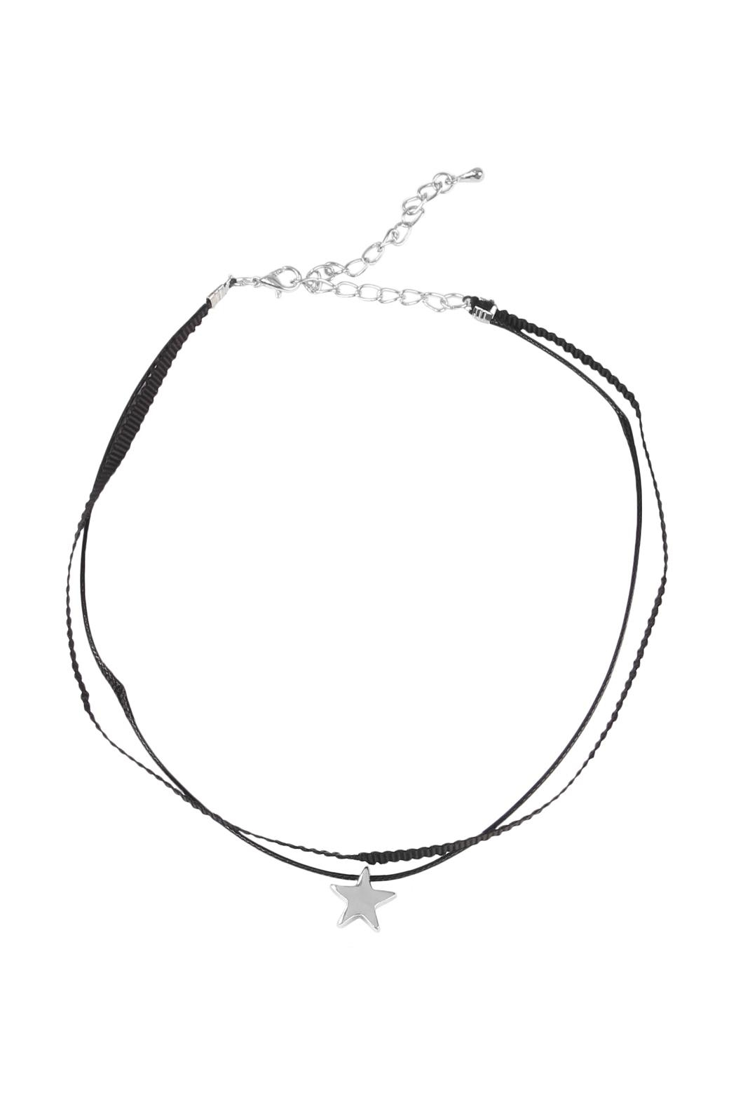 Riah Fashion Star Pendant Choker - Main Image