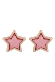 Riah Fashion Star-Shape-Faux-Stone-Post-Earrings - Front cropped