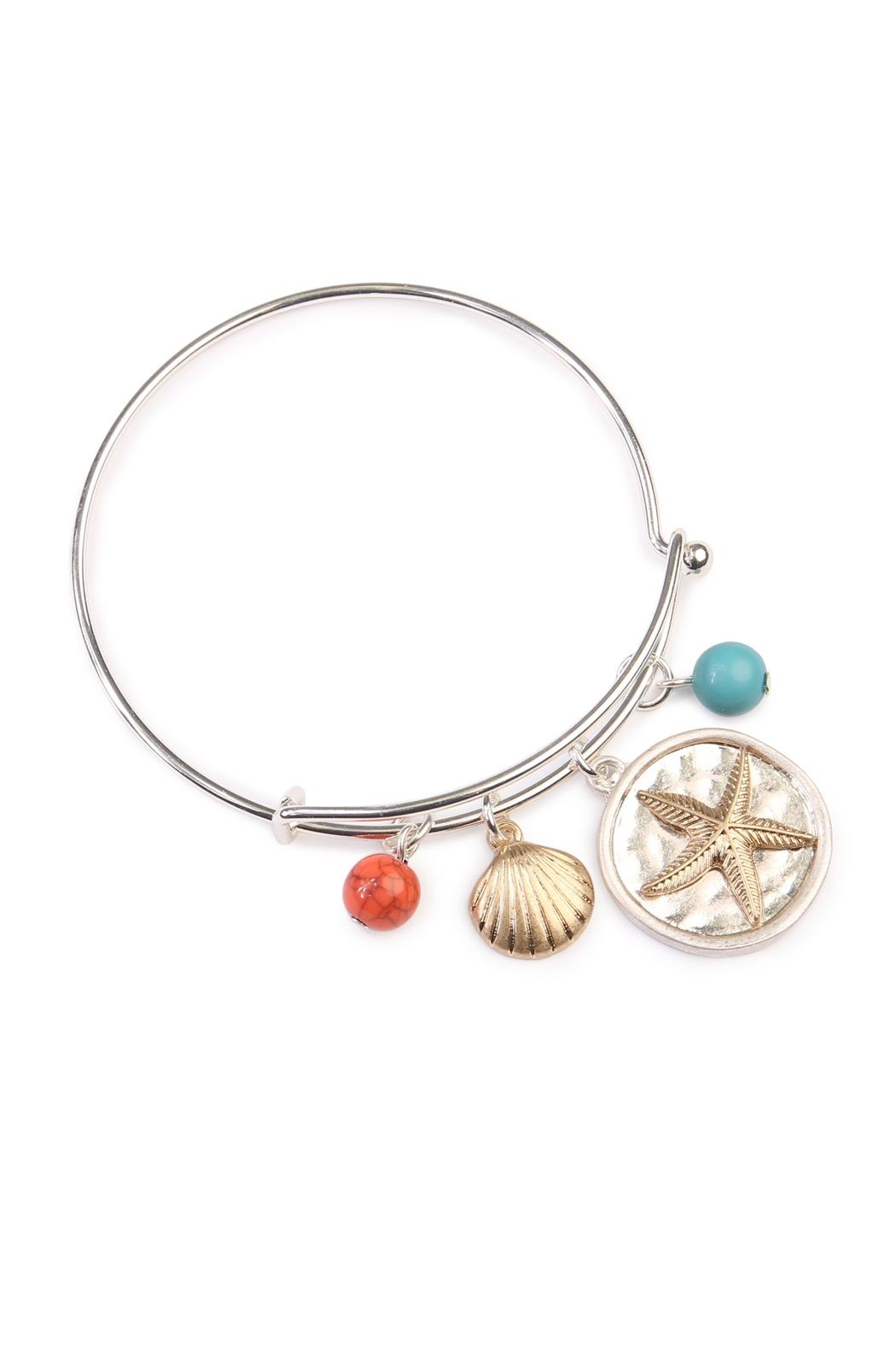 Riah Fashion Starfish Charm Bracelet - Main Image