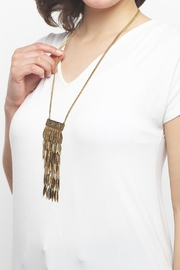 Riah Fashion Statement Leaf Necklace - Other