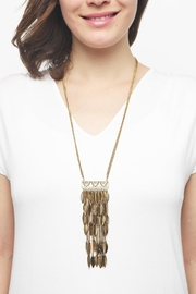 Riah Fashion Statement Leaf Necklace - Side cropped