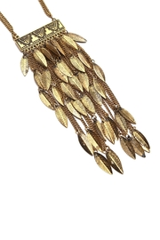 Riah Fashion Statement Leaf Necklace - Front full body