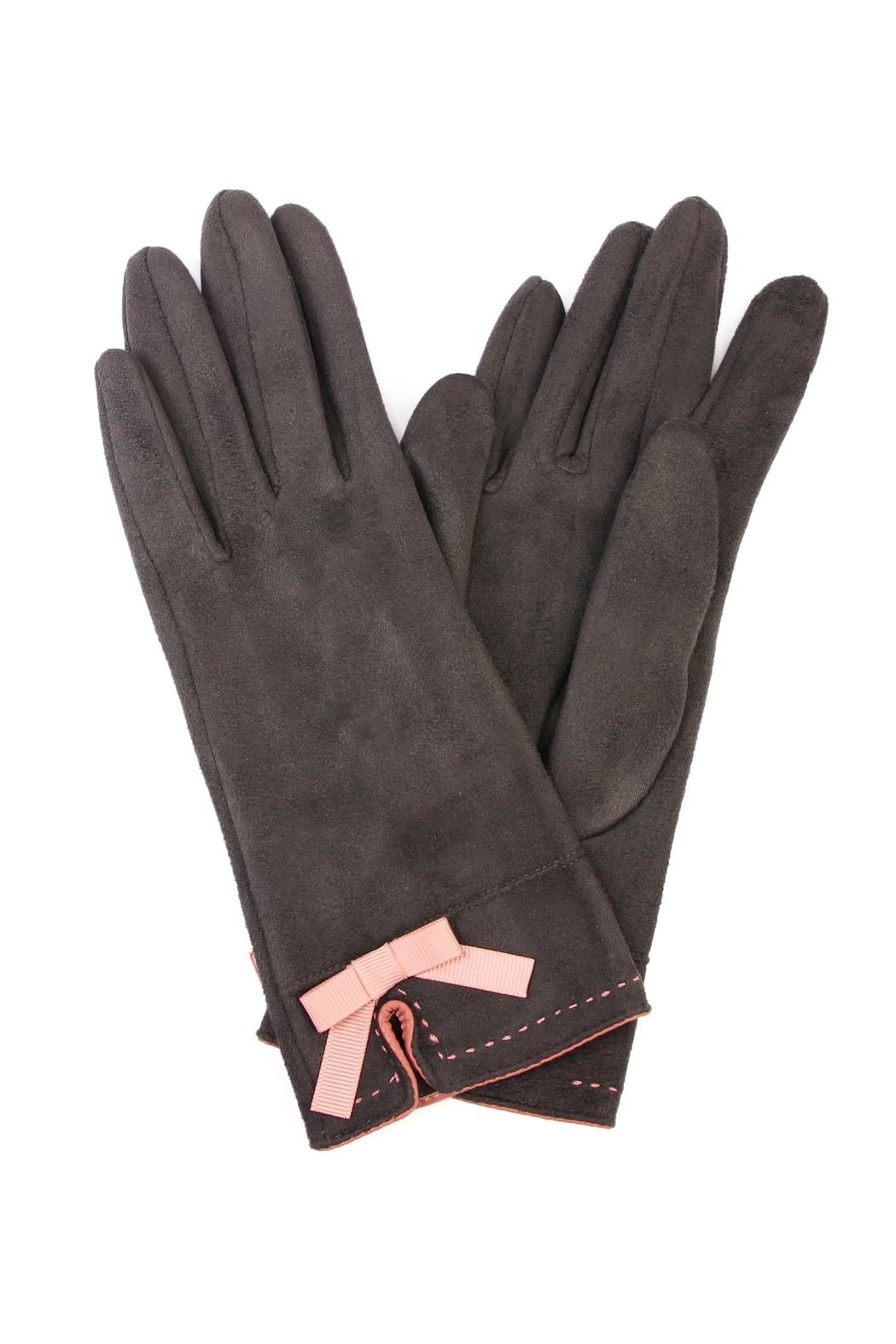Riah Fashion Stitch Ribbon Gloves - Front Cropped Image
