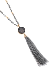 Riah Fashion Stone Charm With Tassel Necklace - Product Mini Image