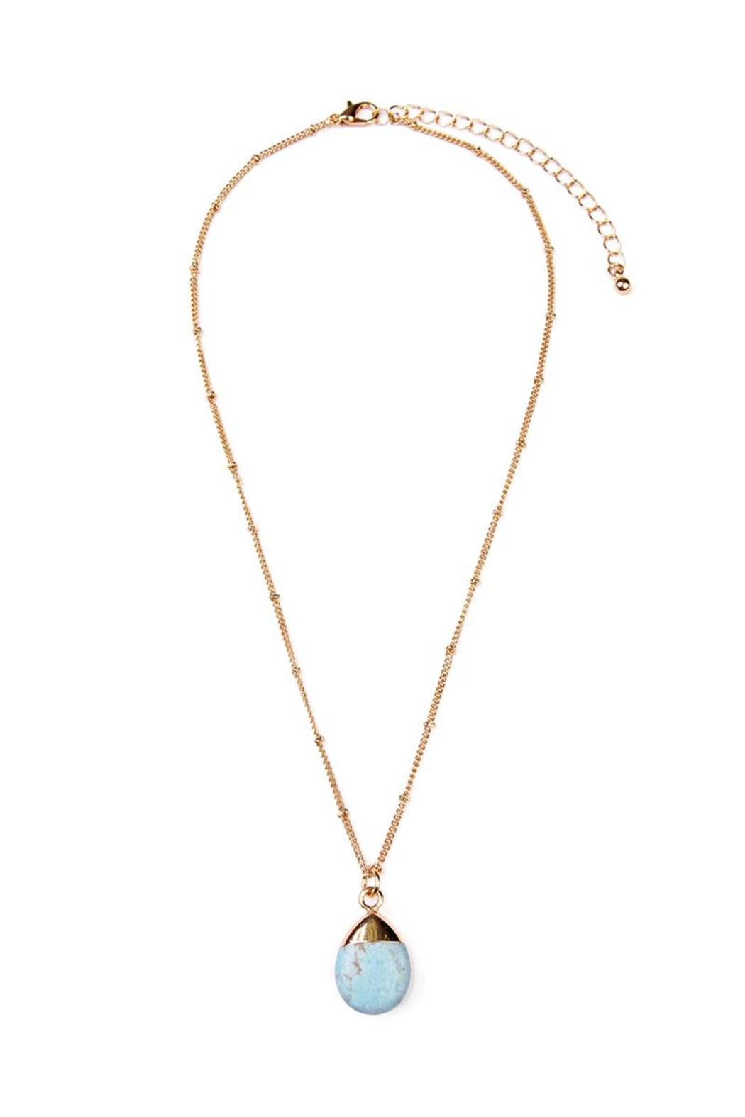Riah Fashion Stone Pendant Necklace - Front Full Image