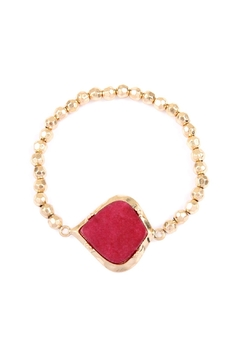 Riah Fashion Stone With Metal Bead Stretch Bracelet - Product List Image