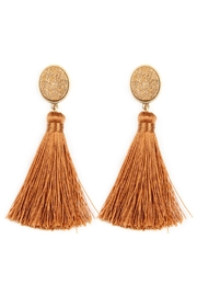 Riah Fashion Stone-With-Tassel Post-Earrings - Front cropped