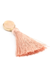 Riah Fashion Stone-With-Tassel Post-Earrings - Side cropped