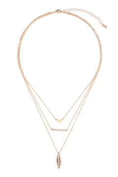 Shoptiques Product: Strand Triangle Necklace