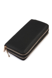 Riah Fashion Strapped Double Zipper Wallet - Product Mini Image