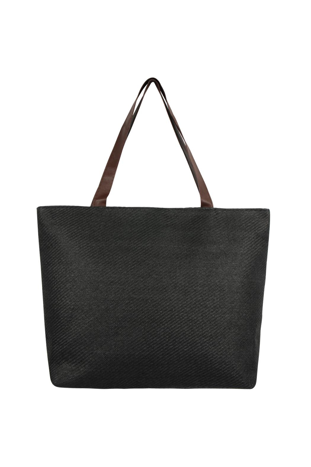 Riah Fashion Straw Tote Bag - Main Image