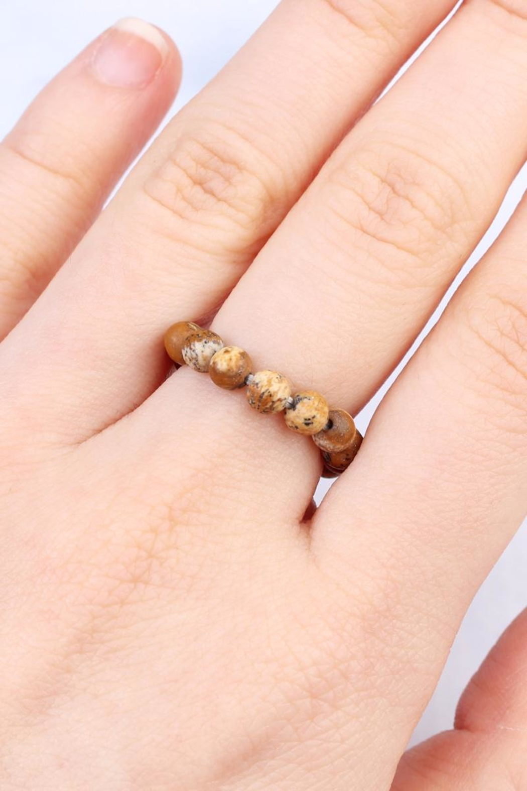 Riah Fashion Stretch Natural-Stone Ring - Front Full Image