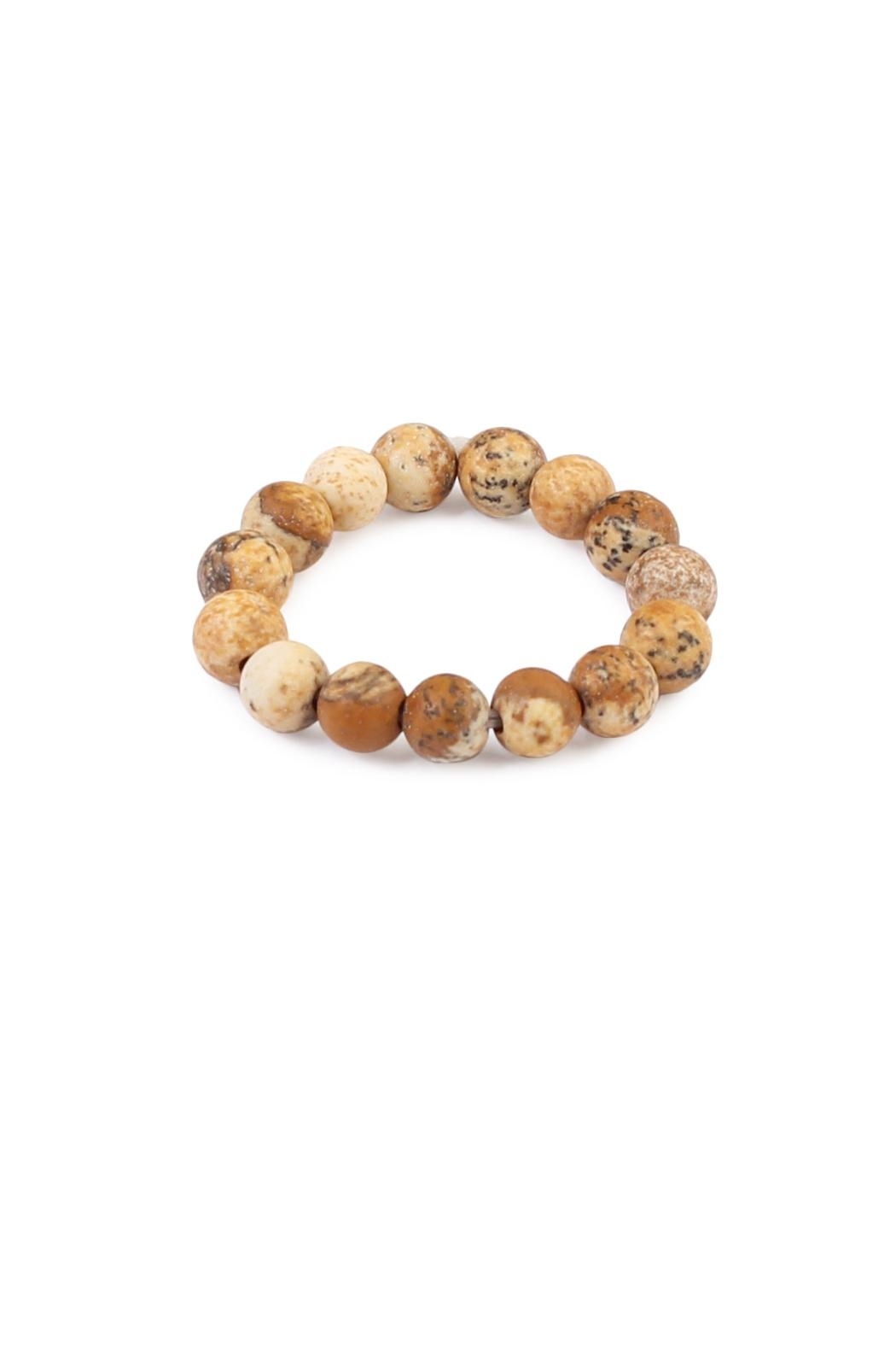 Riah Fashion Stretch Natural-Stone Ring - Front Cropped Image