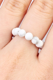 Riah Fashion Stretch Natural-Stone Ring - Front full body