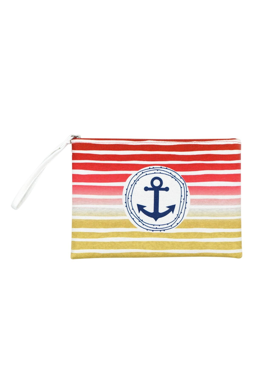 Riah Fashion Stripe-Anchor-Pouch - Front Cropped Image