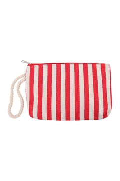 Riah Fashion Stripe Red Pouch - Product List Image