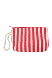 Riah Fashion Stripe Red Pouch - Product Mini Image