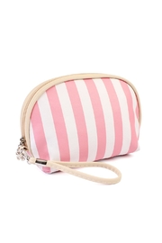 Riah Fashion Striped Cosmetic Pouch - Front cropped