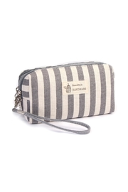 Riah Fashion Striped Cosmetic Pouch - Product Mini Image